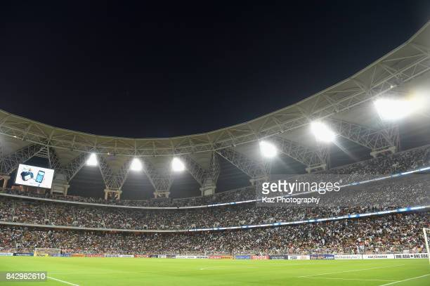 A general view prior to the FIFA World Cup qualifier match between Saudi Arabia and Japan at the King Abdullah Sports City on September 5 2017 in...