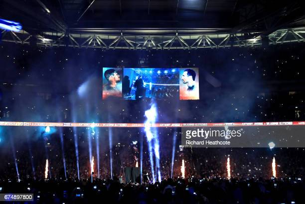 A general view prior to the fight between Anthony Joshua and Wladimir Klitschko for the IBF WBA and IBO Heavyweight World Title bout at Wembley...
