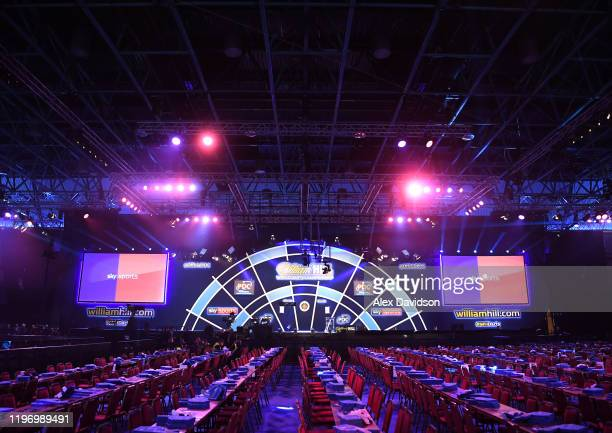 General view prior to the Final of the 2020 William Hill World Darts Championship between Peter Wright and Michael Van Gerwen at Alexandra Palace on...