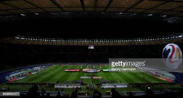 General view prior to the friendly match between Germany and Brazil at Olympiastadion on March 27 2018 in Berlin Germany