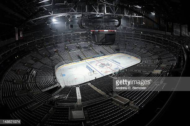 A general view prior to the game between the Los Angeles Kings and the Vancouver Canucks in Game Four of the Western Conference Quarterfinals during...