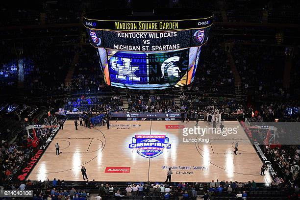 General view prior to the game between the Michigan State Spartans and the Kentucky Wildcats during the State Farm Champions Classic at Madison...