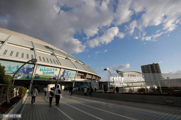 General view prior to the game five between Japan and MLB All Stars at Nagoya Dome on November 14, 2018 in Nagoya, Aichi, Japan.