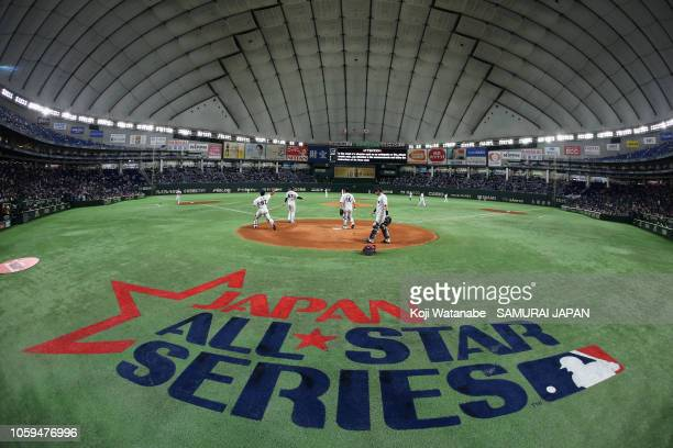 A general view prior to the game one of the Japan and MLB All Stars at Tokyo Dome on November 9 2018 in Tokyo Japan