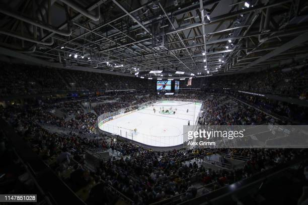 A general view prior to the international friendly game between Germany and USA ahead of the 2019 IIHF Ice Hockey World Championship at SAP Arena on...
