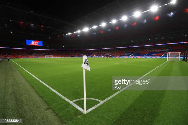 General view prior to the international friendly match between England and the Republic of Ireland at Wembley Stadium on November 12, 2020 in London,...