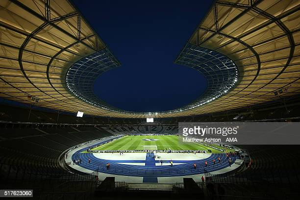 General View prior to the International Friendly match between Germany and England at Olympiastadion on March 26 2016 in Berlin Germany