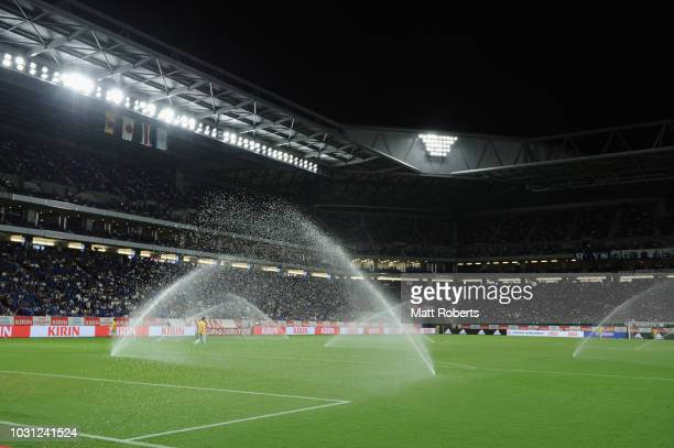 General view prior to the international friendly match between Japan and Costa Rica at Suita City Football Stadium on September 11, 2018 in Suita,...