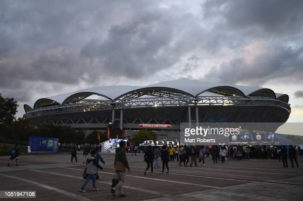 General view prior to the international friendly match between Japan and Panama at Denka Big Swan Stadium on October 12, 2018 in Niigata, Japan.