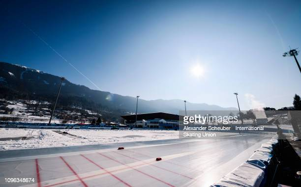 A general view prior to the ISU Junior World Cup Speed Skating Final day 1 on February 9 2019 in Trento Italy