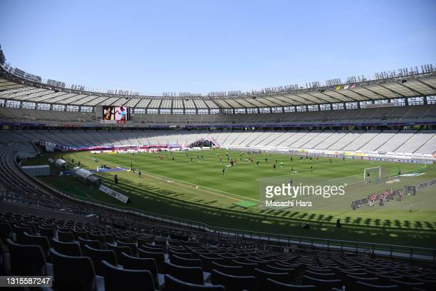 General view prior to the J.League Meiji Yasuda J1 match between FC Tokyo and Yokohama F.Marinos at Ajinomoto Stadium on May 01, 2021 in Chofu,...