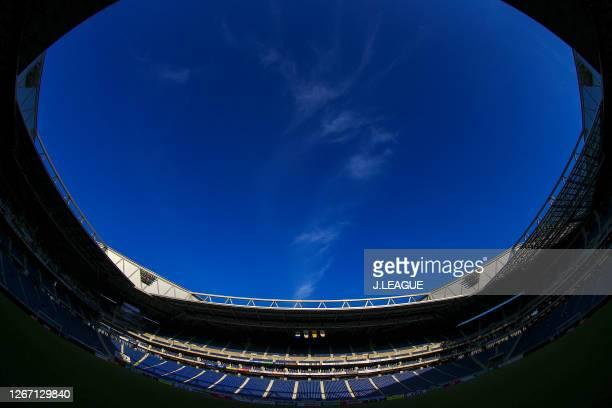General view prior to the J.League Meiji Yasuda J1 match between Gamba Osaka and Urawa Red Diamonds at Panasonic Stadium Suita on August 19, 2020 in...