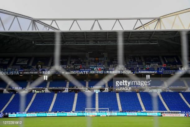 General view prior to the J.League Meiji Yasuda J1 match between Gamba Osaka and Shonan Bellmare at Panasonic Stadium Suita on September 13, 2020 in...