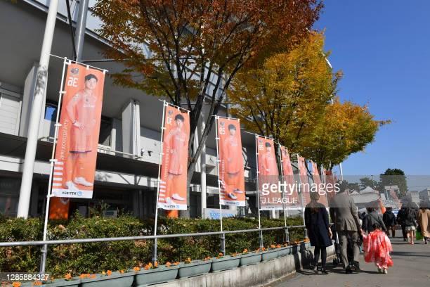 General view prior to the J.League Meiji Yasuda J2 match between Omiya Ardija and Zweigen Kanazawa at NACK5 Stadium Omiya on November 15, 2020 in...