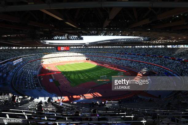 General view prior to the J.League YBC Levain Cup final between Kashiwa Reysol and FC Tokyo at the National Stadium on January 04, 2021 in Tokyo,...