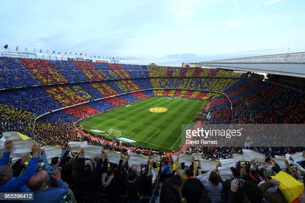 A general view prior to the La Liga match between Barcelona and Real Madrid at Camp Nou on May 6 2018 in Barcelona Spain
