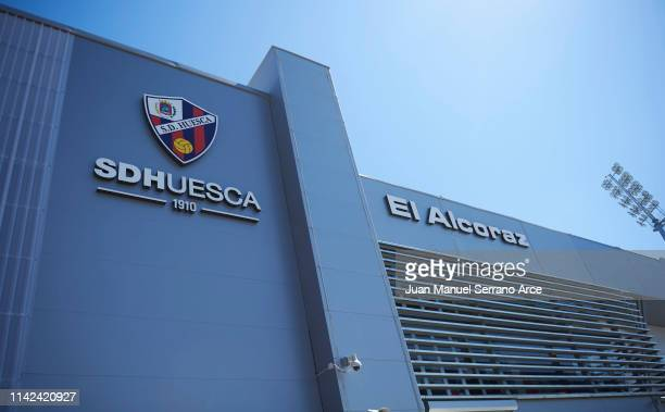 General View prior to the La Liga match between SD Huesca and FC Barcelona at Estadio El Alcoraz on April 13, 2019 in Huesca, Spain.