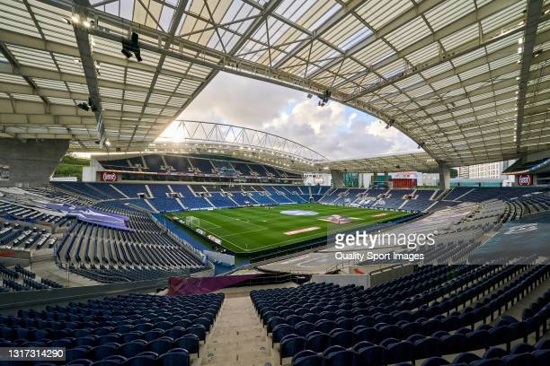 General view prior to the Liga NOS match between FC Porto and SC Farense at Estadio do Dragao on May 10, 2021 in Porto, Portugal. Sporting stadiums...