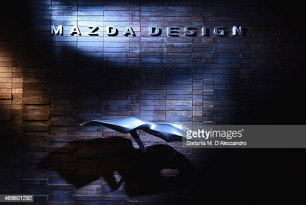 A general view prior to the Mazda Design press conference as a part of Milan Design Week on April 13 2015 in Milan Italy Mazda Motor Corporation took...
