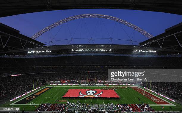General view prior to the NFL International Series match between Chicago Bears and Tampa Bay Buccaneers at Wembley Stadium on October 23, 2011 in...