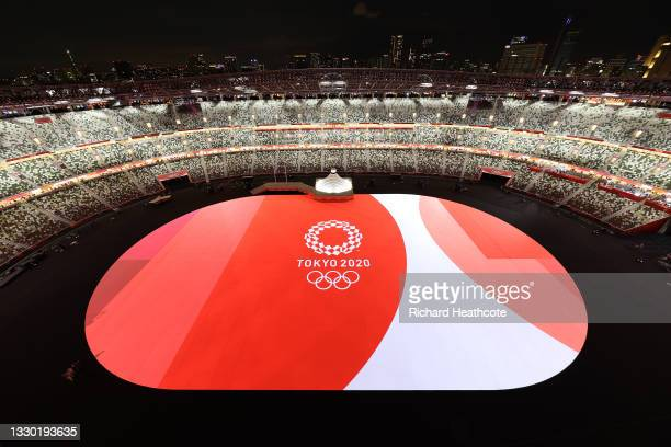 General view prior to the Opening Ceremony of the Tokyo 2020 Olympic Games at Olympic Stadium on July 23, 2021 in Tokyo, Japan.