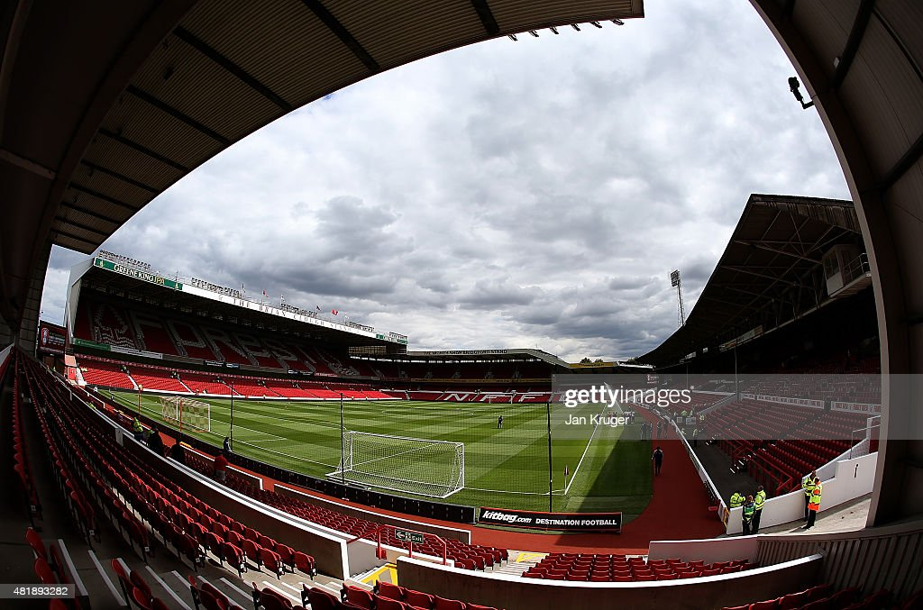 General view prior to the pre season friendly match between Nottingham Forest and Swansea City at City Ground on July 25, 2015 in Nottingham, England.