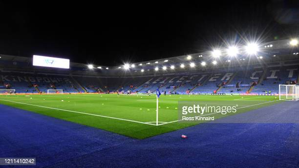 General view prior to the Premier League match between Leicester City and Aston Villa at The King Power Stadium on March 09, 2020 in Leicester,...