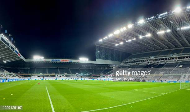 General View prior to the Premier League match between Newcastle United and Manchester United at St. James Park on October 17, 2020 in Newcastle upon...