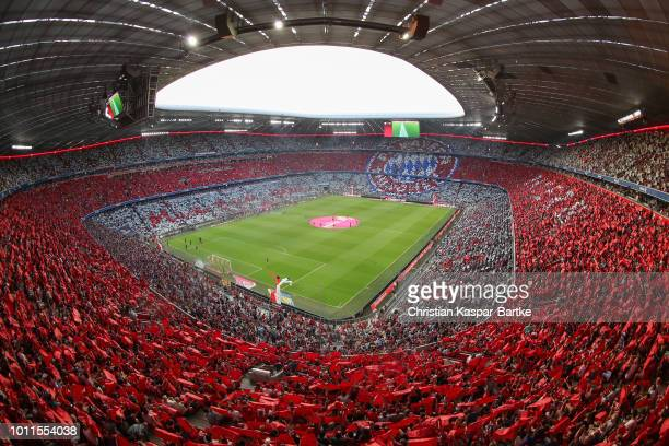 A general view prior to the preseason friendly match between Bayern Munich and Manchester United at Allianz Arena on August 5 2018 in Munich Germany