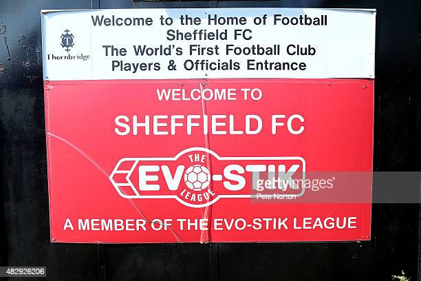 A general view prior to the PreSeason Friendly match between Sheffield FC and Northampton Town at the Coach Horses Ground on July 31 2015 in...