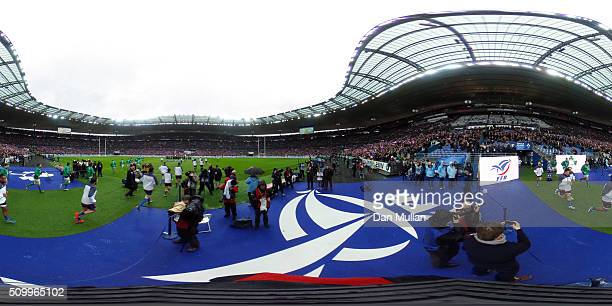 A general view prior to the RBS Six Nations match between France and Ireland at the Stade de France on February 13 2016 in Paris France