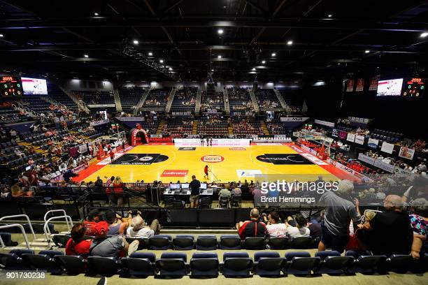 General view prior to the round 13 NBL match between the Illawarra Hawks and Melbourne United at Wollongong Entertainment Centre on January 6, 2018...
