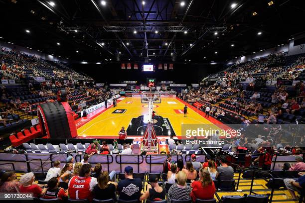 A general view prior to the round 13 NBL match between the Illawarra Hawks and Melbourne United at Wollongong Entertainment Centre on January 6 2018...