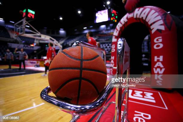 General view prior to the round 15 NBL match between the Illawarra Hawks and Adelaide United at Wollongong Entertainment Centre on January 21, 2018...