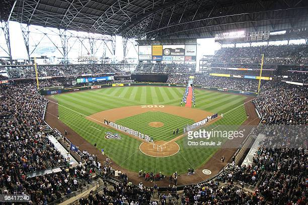 A general view prior to the Seattle Mariners' home opener against the Oakland Athletics at Safeco Field on April 12 2010 in Seattle Washington
