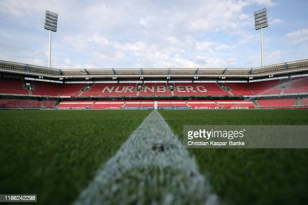 General view prior to the Second Bundesliga match between 1. FC Nuernberg and Hamburger SV at Max-Morlock-Stadion on August 05, 2019 in Nuremberg,...