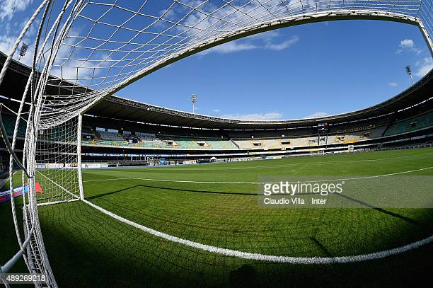 General view prior to the Serie A match between AC Chievo Verona and FC Internazionale Milano at Stadio Marc'Antonio Bentegodi on September 20, 2015...