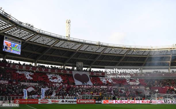 General view prior to the Serie A match between FC Torino and FC Internazionale at Stadio Olimpico di Torino on March 18, 2017 in Turin, Italy.