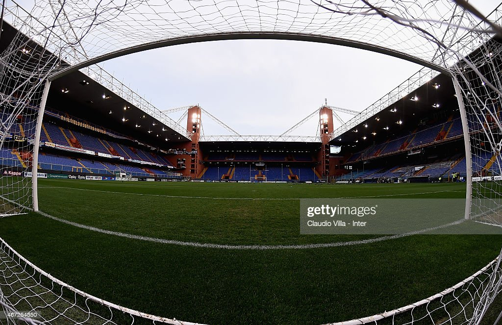 A general view prior to the Serie A match between UC Sampdoria and FC Internazionale Milano at Stadio Luigi Ferraris on March 22, 2015 in Genoa, Italy.