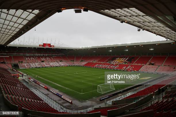 A general view prior to the Sky Bet Championship match between Sunderland AFC and Sheffield Wednesday at Stadium of Light on April 2 2018 in...