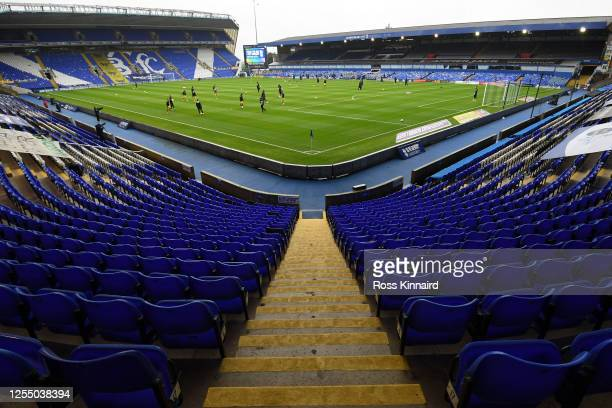 General view prior to the Sky Bet Championship match between Birmingham City and Swansea City at St Andrew's Trillion Trophy Stadium on July 08, 2020...
