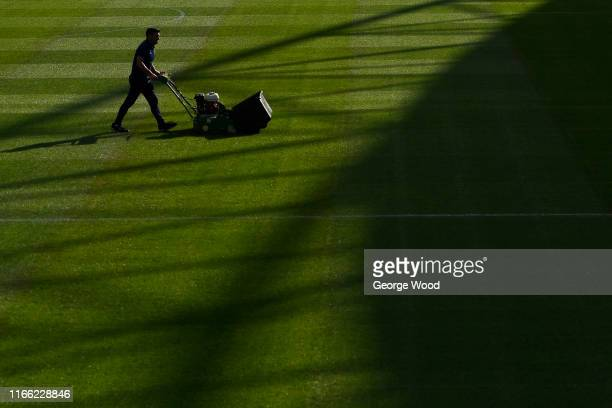 A general view prior to the Sky Bet Championship match between Huddersfield Town and Derby County at John Smith's Stadium on August 05 2019 in...