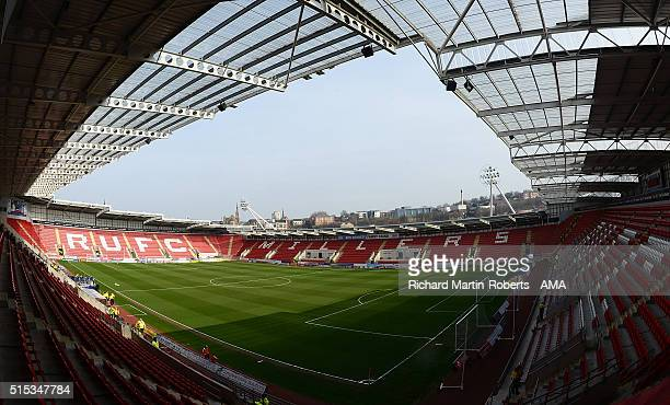 General View prior to the Sky Bet Championship match between Rotherham United and Derby County at the New York Stadium on March 12 2016 in Rotherham...