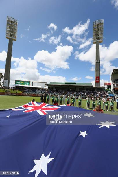A general view prior to the start of day one of the Third Test Match between Australia and South Africa at the WACA on November 30 2012 in Perth...
