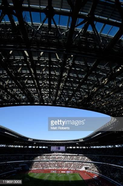 General view prior to the start of the 99th Emperor's Cup final between Vissel Kobe and Kashima Antlers at the National Stadium on January 01, 2020...