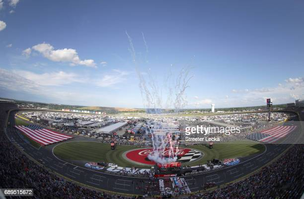 General view prior to the start of the Monster Energy NASCAR Cup Series CocaCola 600 at Charlotte Motor Speedway on May 28 2017 in Charlotte North...