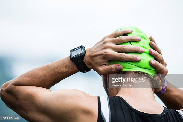 A general view prior to the swimming at Ironman 703 Zell am SeeKaprun on August 31 2014 in Zell am See Austria