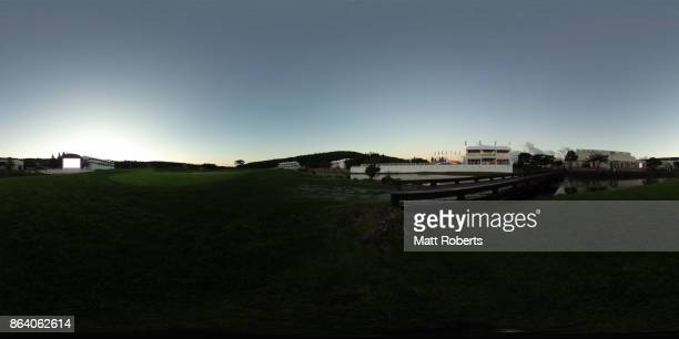 A general view prior to the third round of the CJ Cup at Nine Bridges on October 21 2017 in Jeju South Korea