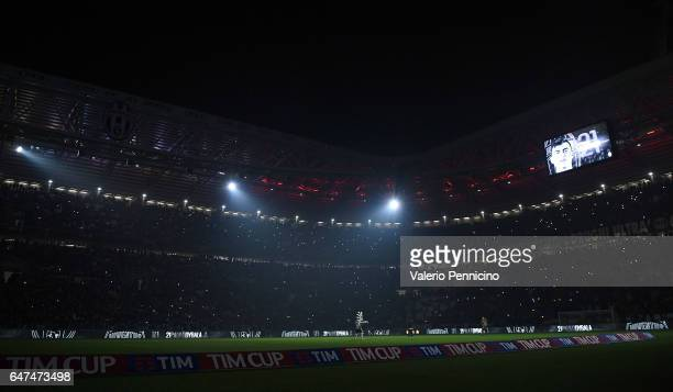 A general view prior to the TIM Cup match between Juventus FC and SSC Napoli at Juventus Arena on February 28 2017 in Turin Italy