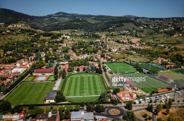 General view prior to the training session at the Italy club's training ground at Coverciano on August 29 2017 in Florence Italy